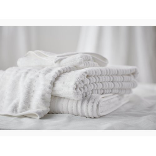 "Truffle Bath Towel With Tatami Weave, 30"" X 58"""