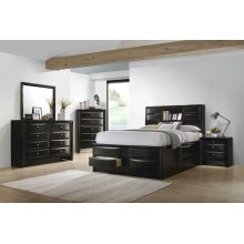 Briana Transitional Black Eastern King Five-piece Bedroom Set