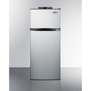 SummitFrost-free Break Room Refrigerator-freezer In Stainless Steel With Nist Calibrated Alarm/thermometers