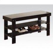 Black Bench W/shoe Rack Product Image