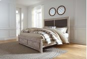Willabry - Weathered Beige 4 Piece Bed Set (King)