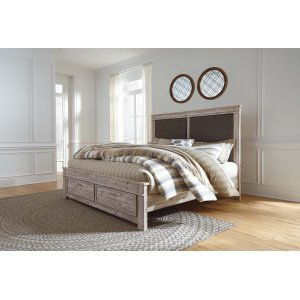 Ashley Furniture Willabry - Weathered Beige 4 Piece Bed Set (King)