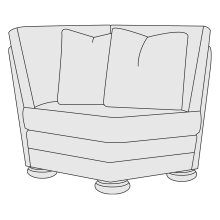 Foster Corner Chair in Molasses (780)