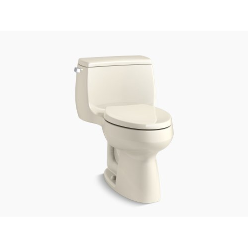 Almond Comfort Height One-piece Elongated 1.28 Gpf Toilet With Class Five Flushing Technology and Left-hand Trip Lever