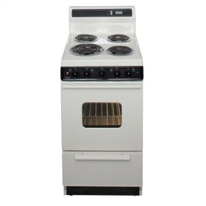 Premier20 in. Freestanding Electric Range in Biscuit