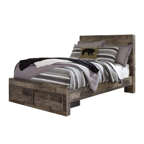 Derekson Multi Gray 4 Piece Bed Set Full
