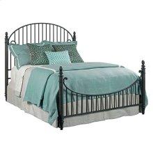 Weatherford Heather Catlins Queen Metal Bed - Complete