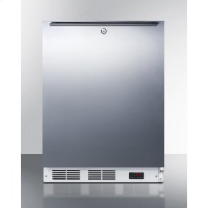 SummitADA Compliant Freestanding Medical All-freezer Capable of -25 C Operation, With Lock, Wrapped Stainless Steel Door and Horizontal Handle