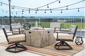 Square Fire Pit Table