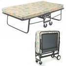 """Rollaway 1290P Folding Cot and 30"""" Fiber Mattress with Angle Steel Frame and Poly Deck Sleeping Surface, 29"""" x 75"""" Product Image"""