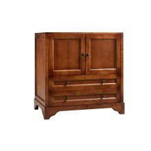 "Milano 36"" Bathroom Vanity Cabinet Base in Colonial Cherry"
