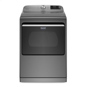 Smart Capable Top Load Electric Dryer with Extra Power Button - 7.4 cu. ft. - METALLIC SLATE