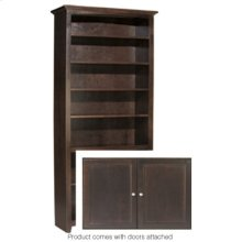 """CAF 84""""H x 36""""W McKenzie Alder Bookcase w/doors"""