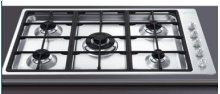 "Gas Cooktop, 90 cm (approx. 35""), Stainless Steel"