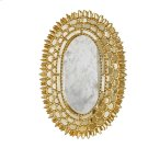Gold Leaf Oval Mirror With Insets -can Be Hung Vertically or Horizontally Product Image