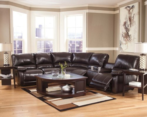 Ashley 4-Piece Sectional with RAF Console Loveseat