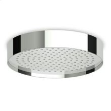 (dia) 320 mm ceiling mounted stainless steel rain shower system. Minimum flowrate requested 12 lt/min.