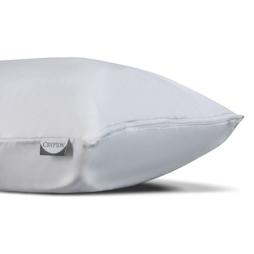 Sleep Calm + Ultra-Premium Pillow Protector with Moisture and Bacteria Resistant Crypton Fabric, Standard / Queen