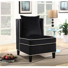 Franklin Black Accent Chair