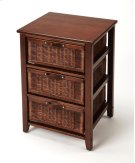 This island-inspired chairside chest is a wonderful addition in the living room, bedroom, or office. Its handsome transitional styling is brought to life by its inviting cocoa finish. Crafted from both pine and albizia wood solids and wood products, it fe Product Image