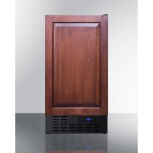 """18"""" Wide Frost-free Freezer In Black for Built-in or Freestanding Use, With Integrated Door Frame for Overlay Panels"""