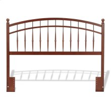 Bailey Wood Headboard Panel with Intricate Spindles and Soft Curved Top Rail, Oak Finish, Full / Queen