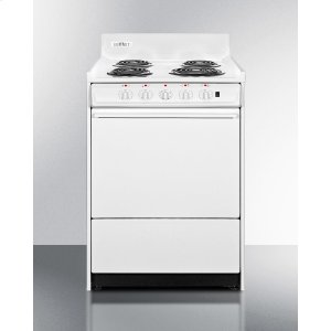 "Summit24"" Wide Electric Range With Indicator Lights and A Three-prong Line Cord"