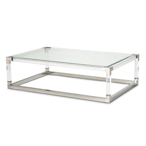 Rectangular Cocktail Table (2 Pc) - Acrylic Legs