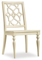 Dining Room Sandcastle Fretback Side Chair - Wood Seat