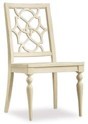 Dining Room Sandcastle Fretback Side Chair - Wood Seat