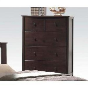 Dark Walnut Chest W/5 Drawers