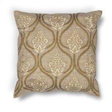"L182 Gold Damask Pillow 18"" X 18"""