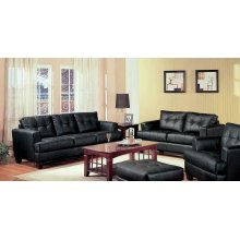 Samuel Transitional Black Two-piece Living Room Set