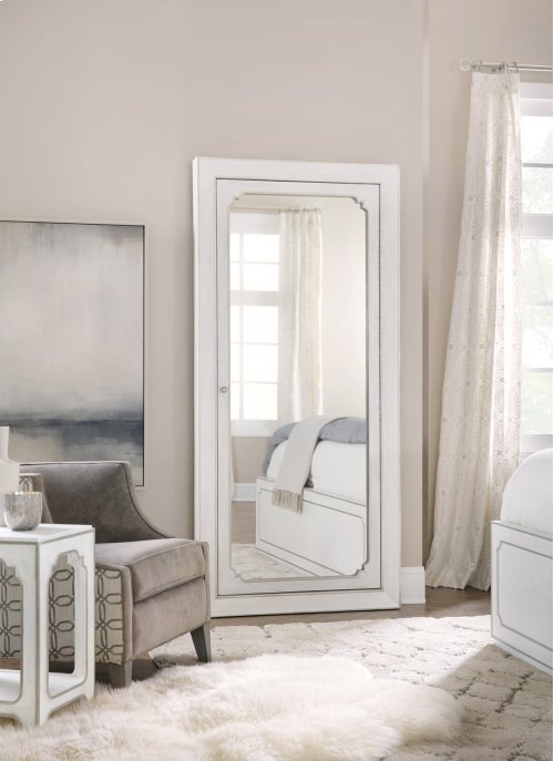 Bedroom Modern Romance Floor Mirror w/jewelry storage