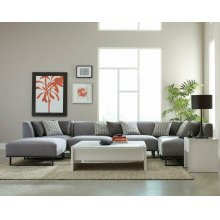 Corrine Modern Grey Armless Chair