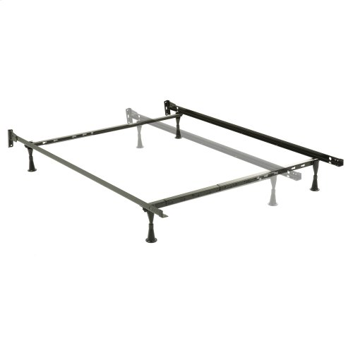 Engineered Adjustable 634 Bed Frame with Fixed Headboard Brackets and (4) Glide Legs, Twin / Full