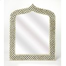 This magnificent Wall Mirror features sophisticated artistry and consummate craftsmanship. The gemoteric patterns covering the piece are created from white bone inlays cut and individually applied in a sea of black by the hands of a skillful artisan. No t Product Image
