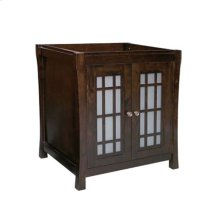 "Shoji 30"" Bathroom Vanity Cabinet Base in Vintage Walnut"