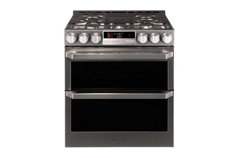 LG SIGNATURE 6 9 cu ft  Smart wi-fi Enabled Gas Double Oven Slide-In Range  with ProBake Convection®
