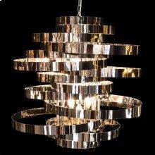Hemispheres 8 Light Chandelier Silver