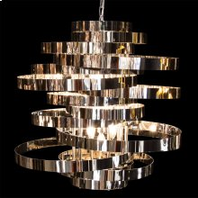 Hemispheres 8 Light Chandelier Silver