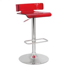 SWIVEL ADJ. STOOL W/RED SEAT