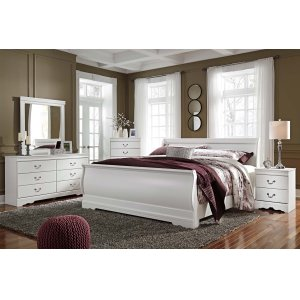 Ashley Furniture Anarasia - White 3 Piece Bed Set (King)
