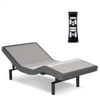 S-Cape 2.0 Adjustable Bed Base with Wallhugger Technology and Full Body Massage, Charcoal Gray Finish, Full Product Image