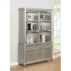 CoasterRitzville Metallic Platinum Double Bookcase