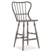 Dining Room Ciao Bella Spindle Back Bar Stool-Speckled Gray Product Image