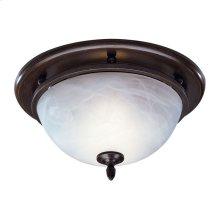 Decorative Fan/Light, Oil-Rubbed Bronze, Glass Globe, 70 CFM