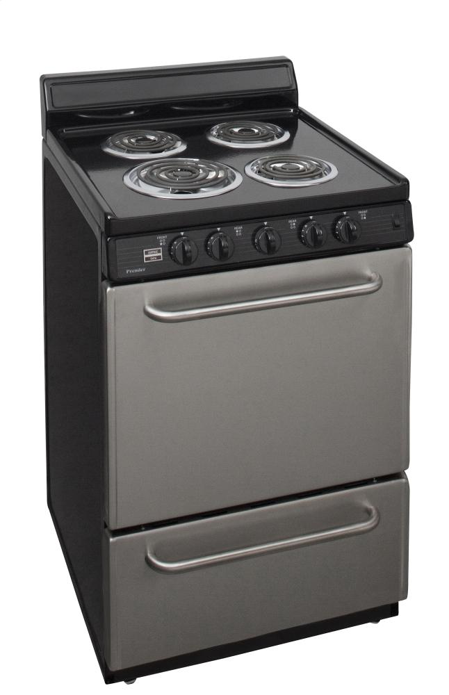 10ff1fa3acc ECK600BP Premier 24 in. Freestanding Electric Range in Stainless ...