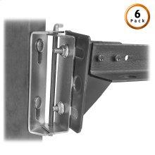 Bed Frame Swing Hinge (Style # 67) Pair for Split King Beds, 6-Pair Pack
