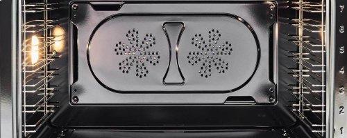30 inch Dual Fuel, 5 Burners, Electric Oven Matt White